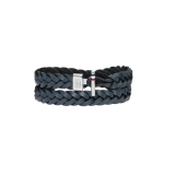 Tommy Hilfiger Men's Casual Black Leather Bracelet 2700533