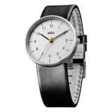 Braun Classic Quartz Analogue w/ Leather Strap BN0021BKG