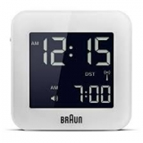 Braun LCD Reseväckarur White, Snooze/Light RC