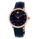 Slimline Midsize Moonphase Stars Blue