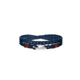 Tommy Hilfiger Men's Casual Blue Leather Bracelet 2700536