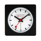 Mondaine Table Clock Black w/alarm