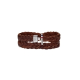 Tommy Hilfiger Men's Casual Brown Leather Bracelet 2700532