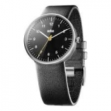 Braun Classic Quartz Analogue w/ Leather Strap BN0021BKBKG