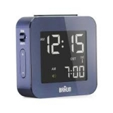 Braun LCD Reseväckarur Blue, Snooze/Light RC