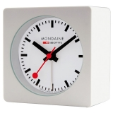 Mondaine Table Clock White w/alarm