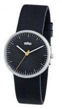 Braun Classic Quartz Analogue w/ Leather Strap BN0021BKBKL