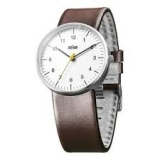 Braun Classic Quartz Analogue w/ Leather Strap BN0021WHBRG