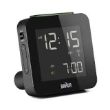 Braun LCD Reseväckarur Black, Snooze/Light RC