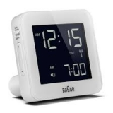 Braun Radiokontrollerat Digitalt Väckarur White, Snooze/Light