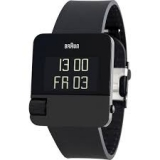 Braun HAU Prestige Digital Steel Black, rubber strap