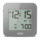 Braun LCD Reseväckarur Grey, Snooze/Light RC
