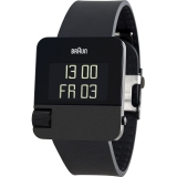 Braun HAU Prestige Digital Black, rubber strap