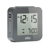 Braun LCD Reseväckarur Grey, Snooze/Light BNC008GY