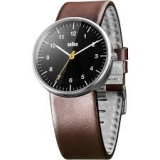 Braun Classic Quartz Analogue w/ Leather Strap BN0021BKBRG