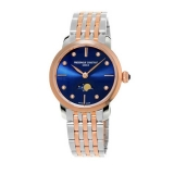Slimline Ladies Moonphase Navy